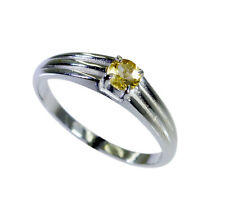 Citrine 925 Sterling Ring L-1in bewitching Yellow exporter AU K,M,O,Q