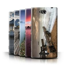 STUFF4 Phone Case/Back Cover for Sony Xperia C/C2305 /English Seaside