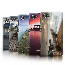 STUFF4 Phone Case/Back Cover for Sony Xperia L/C2105 /English Seaside