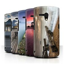 STUFF4 Phone Case/Back Cover for Sony Xperia Neo L/MT25i /English Seaside