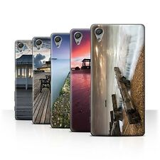 STUFF4 Phone Case/Back Cover for Sony Xperia X /English Seaside