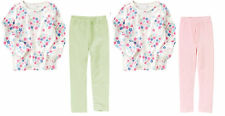 NWT Gymboree Fairy Wishes OUTFIT GIRLS Flower Top tee shirt & Velour Leggings