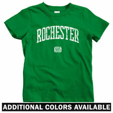 Rochester 585 New York Kids T-shirt - Baby Toddler Youth Tee - Flour Flower City