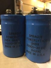 2 pcs of spraque Power Computer Grade Capacitors 26,000 uF 30V 36DX