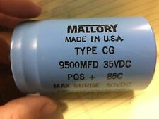 1 pcs of Mallory Power Computer Grade Capacitors 9500 uF 35V