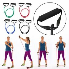 Resistance Tube Set Home Gym Fitness Exercise Workout Heavy Handles Yoga Band NG