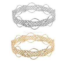 Simple Fashion Braided Weave Design Hollow Cuff Bracelet Bangle Jewelry Friends