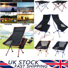 Ultra Light Portable Folding Seat Fishing Camping Lounger Chair Table Outdoor UK