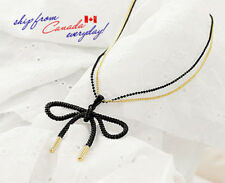 Elegant Bowknot Long Two-layers Ball Chain Sweater Necklace/Free Shipping