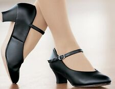 3 PAIRS NEW Leather Professional Character Dance Shoes Buckle Black
