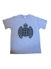 MINISTRY OF SOUND - CHARCOAL CLASSIC LOGO - OFFICIAL MENS T SHIRT