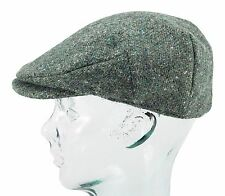 Green Donegal Tweed Vintage Style Irish Flat Cap by Hanna Hats