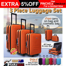 3 Piece Luggage Suitcase Set DELEGATE with Free Carry On and Cosmetic Bags