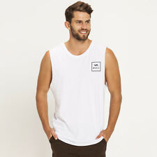 RVCA All The Way Muscle Tank in White