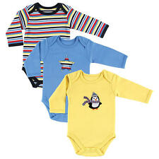 Hudson Baby Boys 3 Pack Assorted Pattern Bodysuits