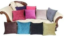 NEW CHENILLE CUSHION COVERS AMAZING QUALITY LOADS OF COLOURS ALL SIZES !!!!!