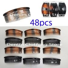 48pc  Dark Colors Long Hair Comb Jaw Banana Side Clip Large Lots Wholesale 4.5""