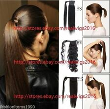 """22""""24""""26""""28""""Hair Wrap Ponytail 100% Indian Remy Human Hair extensions 80g/100g"""