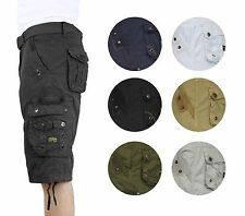 Men's Vintage Cargo Utility Shorts Includes belt Perfect for Camping and Hiking