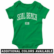 Seal Beach California One Piece - Baby Infant Creeper Romper NB-24M Gift Surfing