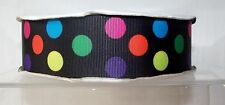 "Polka Dot Grosgrain Ribbon 38mm 1.5"" wide 1, 2 or 5 metres"