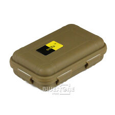Plastic Waterproof Airtight Case Fly Fishing Container Travel Box Sandy Orange