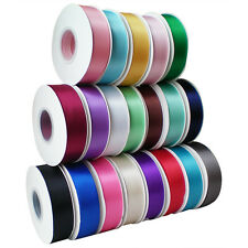 25mm Width 25 Metres Length Full Reel Premium Double Faced Sided Satin Ribbon