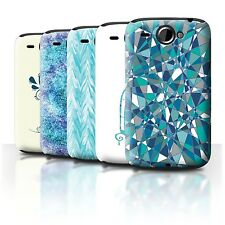 STUFF4 Back Case/Cover/Skin for HTC Wildfire/G8/Teal Fashion