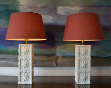 A Stylish Pair of Casa Pupo Glazed Ceramic Vase Lights Hall Table Side Lamps
