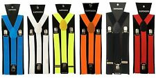 New Adults Unisex Men Women Clip-on Suspenders Elastic Y-Shape Adjustable Braces