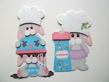 3D-U Pick - CB5 Cooking Baking Mice Puppy Bunny Dog Scrapbook Card Embellishment