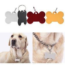 Puppy Pet Dog Cat Small Stainless Bone Print ID Name Collar Personalized Tag FCA