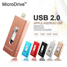 Hot Metal OTG USB Flash Drive For Apple iPhone iPad Memory Stick 16GB 32GB 64GB