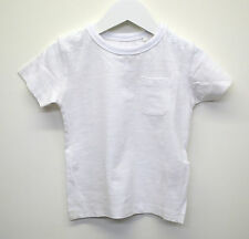 Baby Boys Ex Next T-Shirt Top Soft Cotton Plain White Age 3 to 24 Months Kids