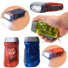 3 LED Dynamo Wind Up Flashlight Hand-pressing Crank No Battery Torch Tools LIN