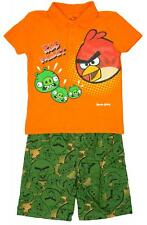 Boys T-Shirt Polo Collar Top Shorts Outfit Angry Birds Red Alert 2-5 Years SALE