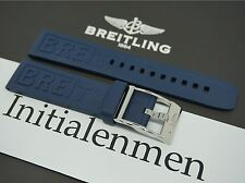 Breitling RUBBER PRO DIVER 3 blue 148S 20/18 strap band 100% ORIGINAL & NEW