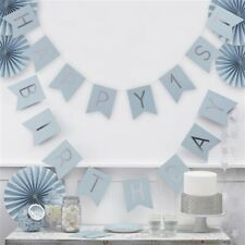 Pastel Blue Party Collection from GINGER RAY - 1st Birthday, Bunting, Balloons