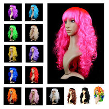 Full Wigs Long Curly Wavy Hair Wig Bangs Anime Party Cosplay Costume Fancy Dress