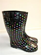 NEW Ladies Short Wellies UK 5,7,8 Waterproof Wide Wellington Winter Rain Boots
