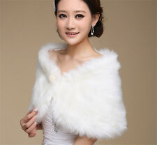 Women Fur Faux Fur Bolero White Wedding Bridal Wraps Wedding Bolero Jacket SK