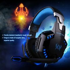 EACH G2000 Pro Game Gaming Headset 3.5mm LED Stereo PC Headphone Microphone I5