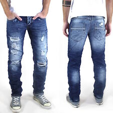 New Men's Designer Slim Fit Jeans Trousers Destroyed Look Various Sizes