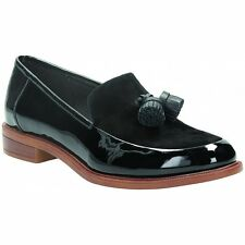 Clarks Womens Taylor Spring Black Patent Loafer Casual Shoe