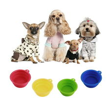 Pet Dog Cat Portable Silicone Collapsible Travel Feed Bowl Water Dish Feeder P5