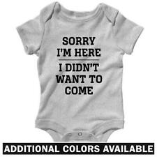 Sorry I'm Here One Piece - Baby Infant Creeper Romper NB-24M - Gift Funny Humor
