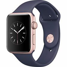 Apple Watch Series 2 42mm Rose Gold Aluminum Case Blue Sport Band MNPL2LL/A