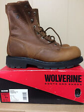 Mens Wolverine Steel Toe Work Boots size 9M