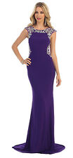 Plus Size Prom Dresses Formal Evening Party Long Gown