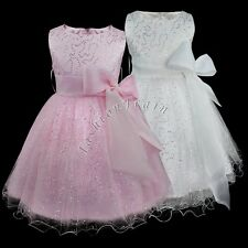 Pageant Sequined Communion Party Wedding Bridesmaid Prom Princess Girls Dress